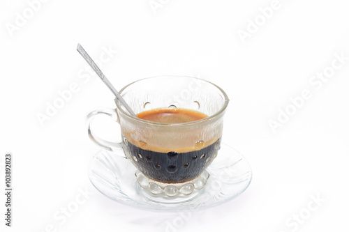 Stickers pour porte The espresso coffee in classic cup isolate on white background