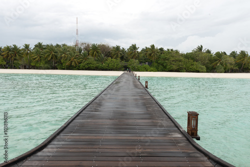 Photo  Overwater Bungalows Boardwalk