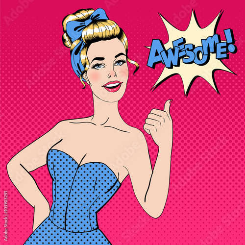 pop-art-style-woman-gesturing-great-with-expression-awesome