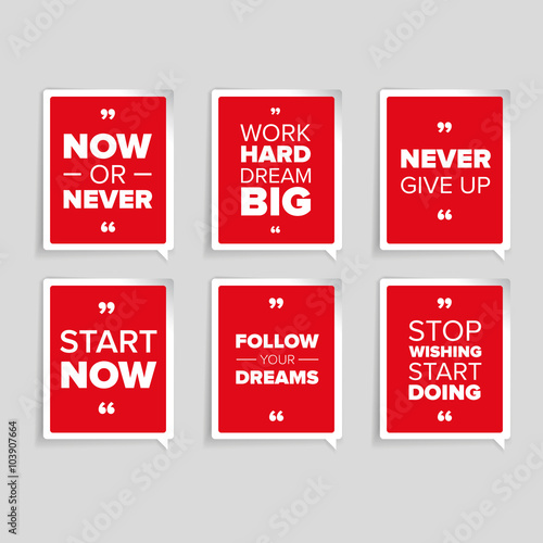 Inspirational motivational quote set Poster