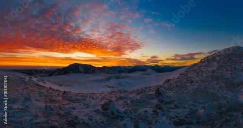 Mountain sunset winter #103912051