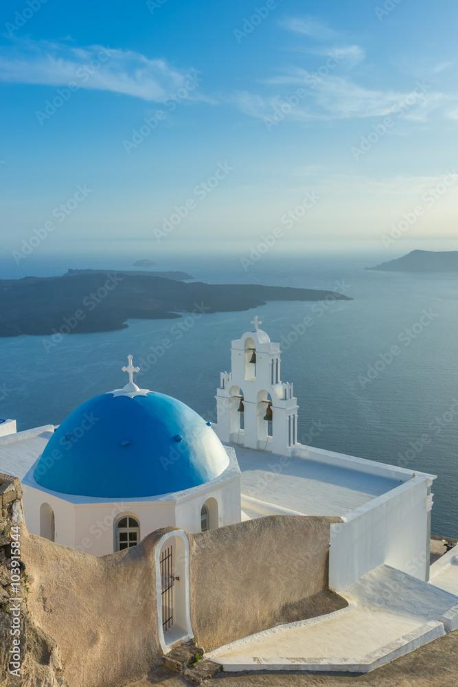 Fototapeta Santorini landscape, Island, Greece