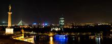 Panoramic View Of Danube River...