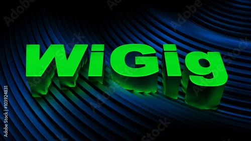 Fotografie, Obraz  WIGig (Wireless Gigabit) sign