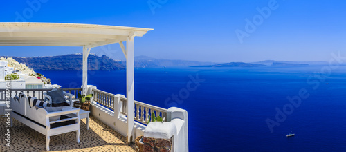 Fototapeta Santorini, Greece - Oia village, typical view obraz