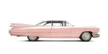 Cadillac Eldorado 1959 Isolated On White. All Logos Removed.