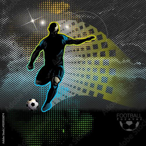 Football player shoots the ball - 103933874