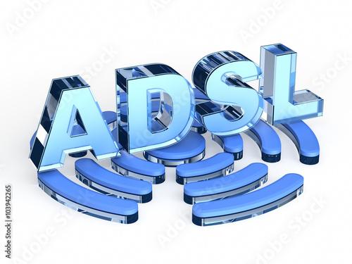 Photo ADSL (Asymmetric digital subscriber line)