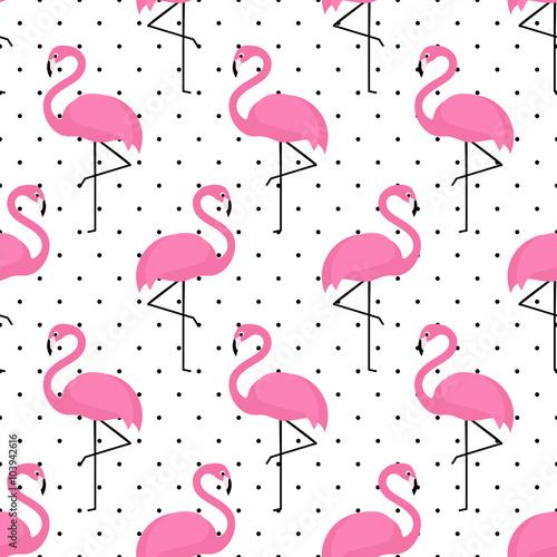 flamingo-wzor-na-tle-kropki-projekt-tlo-wektor-flamingo-dla-tkaniny-i-wystroj