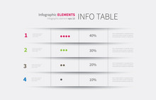 Infographics Table Background ...