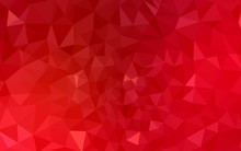 Red Polygonal Design Pattern, Which Consist Of Triangles And Gradient In Origami Style.