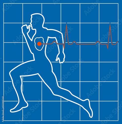 Running Man Symbol Cardiovascular Medicine Buy This Stock Vector