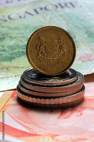新加坡元 Dolar Singapura சிங்கப்பூர் வெள்ளி 싱가포르 달러 シンガポールドル Dollaro di Singapore D Poster