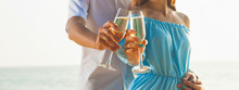 Couple With Champagne Glasses ...