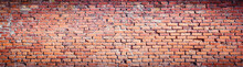 Background Of Red Brick Wall Pattern Texture. High Resolution.