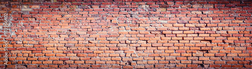Foto op Aluminium Wand Background of red brick wall pattern texture. High resolution.