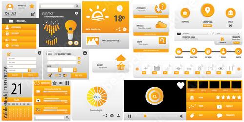 Fotografía  Big template user interface for business