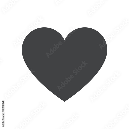 Valokuva Heart icon, heart vector icon, heart icon illustration
