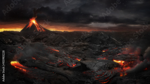 Photo Volcanic landscape