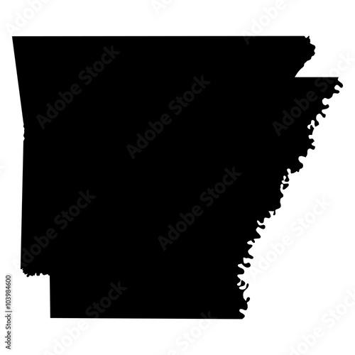 Photo Arkansas map on white background vector