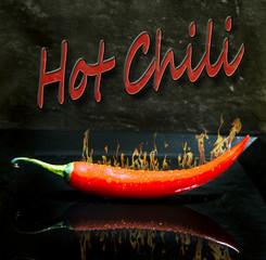 Panel Szklany Przyprawy Hot Chili