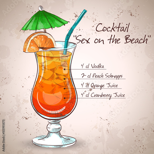 Photo  Sex on the Beach mixed drink
