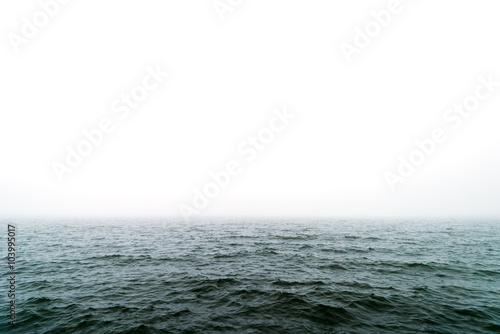 Foto op Plexiglas Zee / Oceaan Foggy sea surface