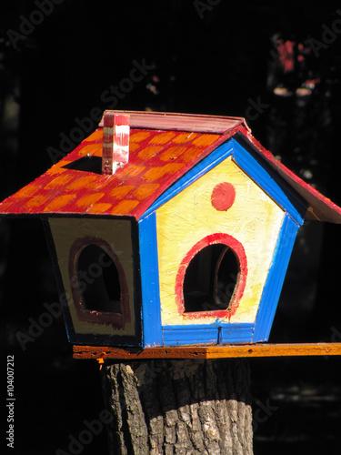 Canvas Print birdhouse