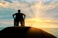 Silhouette Of Disabled Person ...