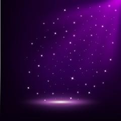Violet lights shining background