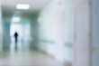 hospital interior corridor blurred background