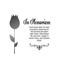 In Memoriam, Condolences Icon Over Gray Color Background