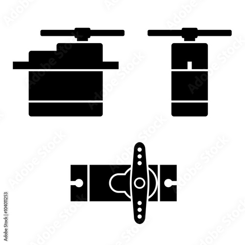 Fotografia, Obraz  vector electric rc model servo black symbols