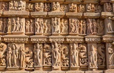 FototapetaFamous erotic Kandariya Mahadev temple in Khajuraho, India