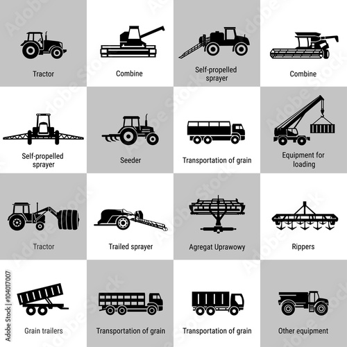 Fotografiet  Agriculture Machinery Equipments