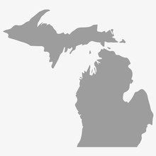Map The State Of Michigan In G...