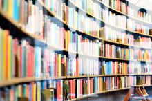 Bookshelf In Public Library, S...