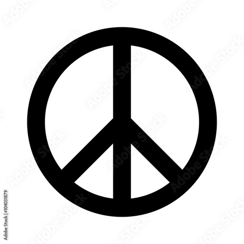 Peace sign flat icon for apps and websites Poster