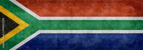 National flag of South Africa - Vintage Banner version Wallpaper Mural