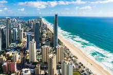 Aerial Of Surfers Paradise Cit...