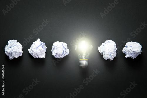 Fotografiet  Light bulb idea
