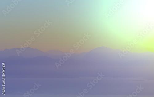 Tuinposter Lichtroze Greece sunset