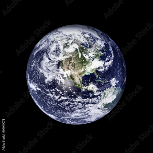 Deurstickers Nasa earth