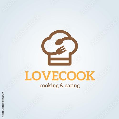 love cooking logo,restaurant logo,bistro logo,canteen logo