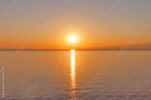Keuken foto achterwand Rood traf. Sunset on the sea with burrning sun