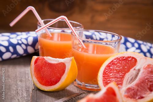 Poster Sap juice from grapefruit