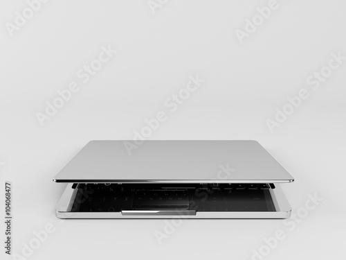 Fotografie, Obraz  3d laptop almost closed
