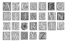 Vintage Monograms Alphabet