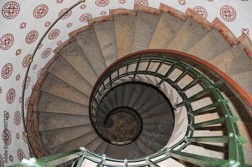 Photo  Spiral staircase in Copenhagen Town Hall
