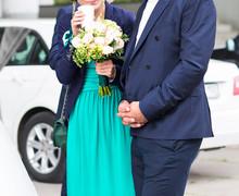 Big Wedding Bouquet. Groom. Bride. Bridesmaid